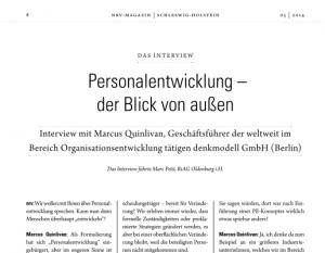 Screenshots der ersten Seite des Interviews Personalentwicklung - der Blick von außen