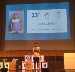Foto von Herrn Prof. Faltin, auf der Bühne