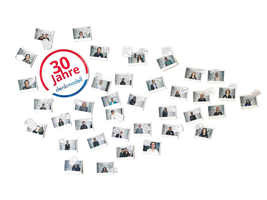 Foto einer Collage mit allen Kollegen und jeder hat eine Sprechblase mit einem Spruch