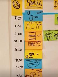 Foto eines Zeitplans
