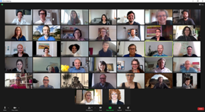 Screenshot des Zoom-Meetings beim Ensemble 2021.