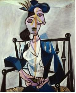 Gemälde Sitzende Frau von Pablo Picasso.